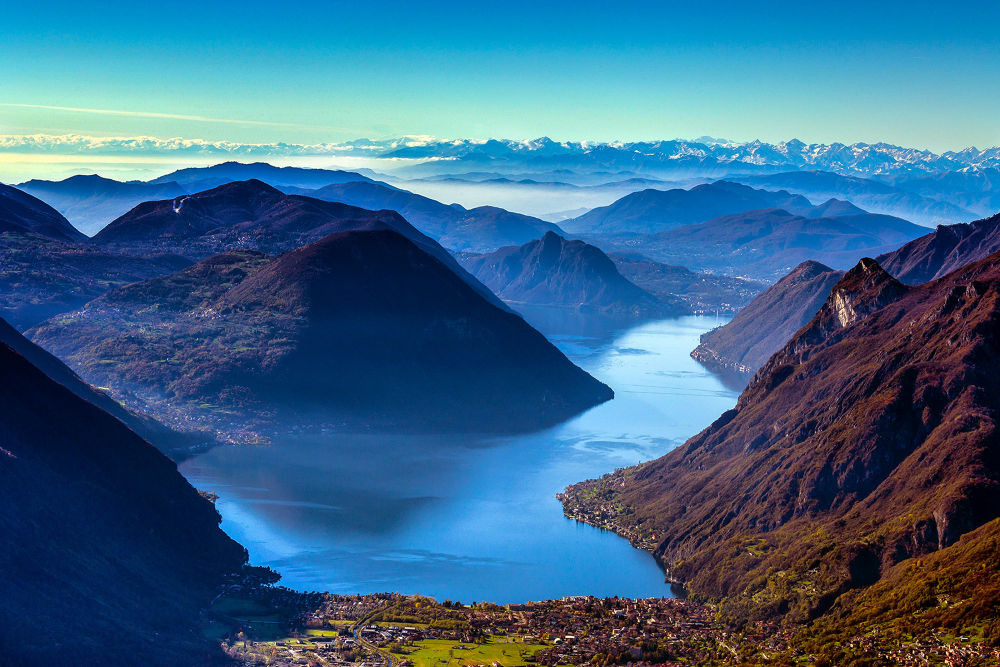 Photo in Random #lago di lugano #lugano lake #switzeland #lake #landscape #mountain