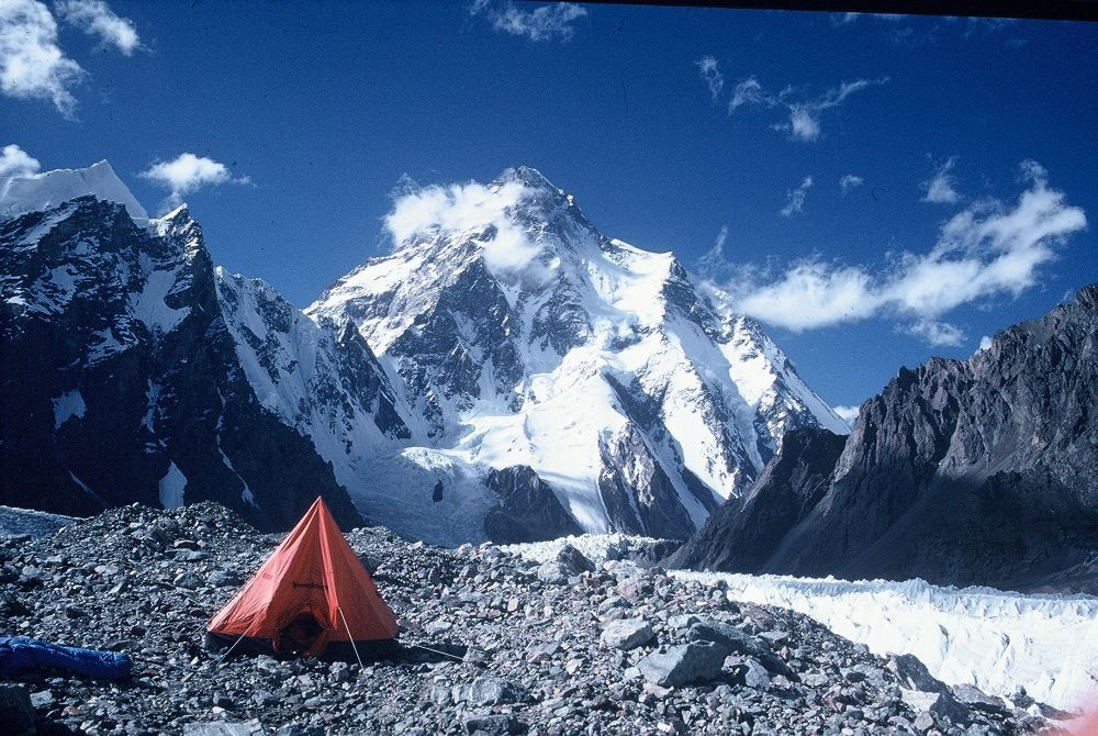 K2 seen from Broad Peak BC by Naz