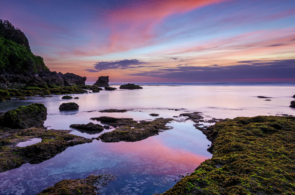 Blue Point Beach Sunset by Rivan Indra
