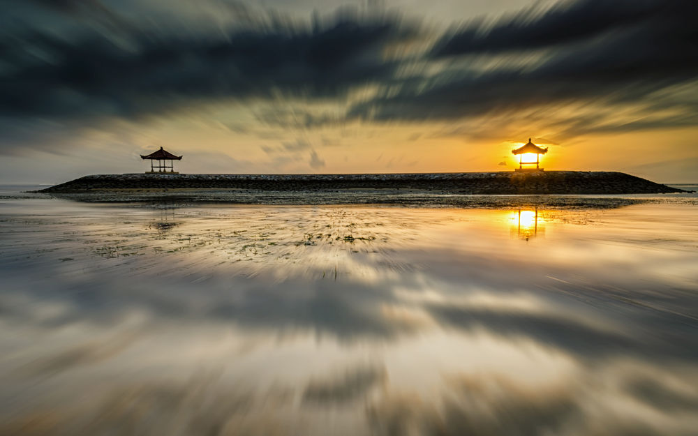 Sunrise From Karang Beach by Rivan Indra