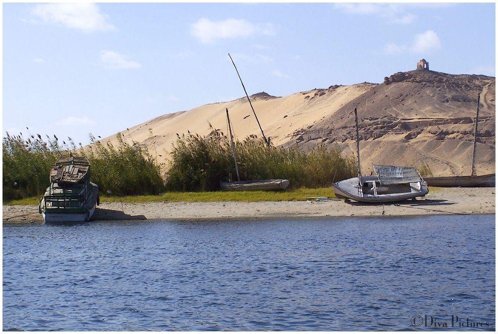 Barque sur le Nil by DivaPictures