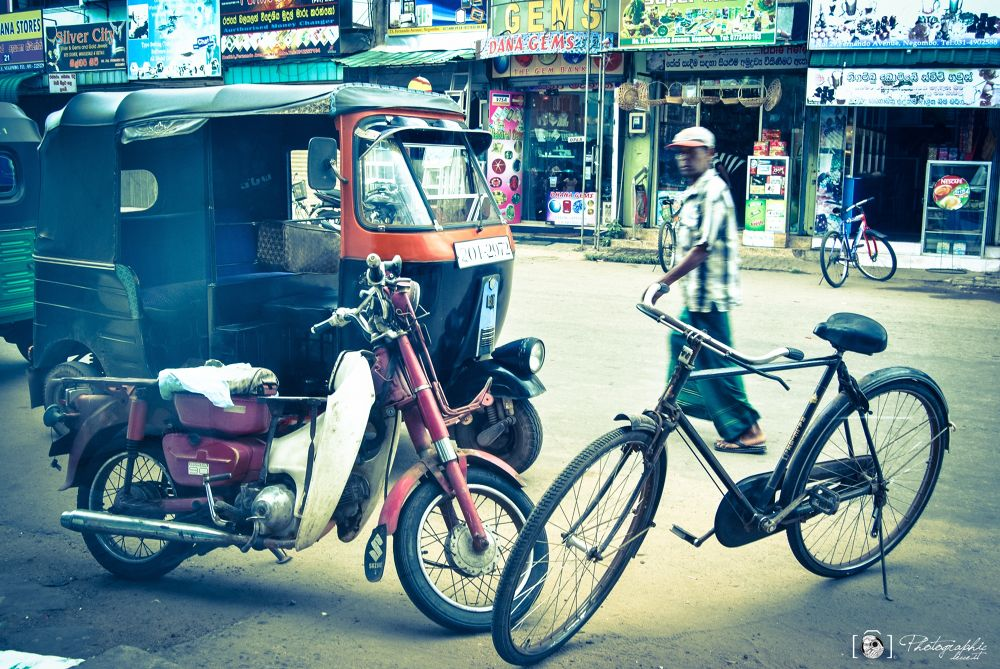 Photo in Random #street #bike #india #bicicletta #sri lanka #motor #photographic lecce #transport #tuc tuc #atho #negombo