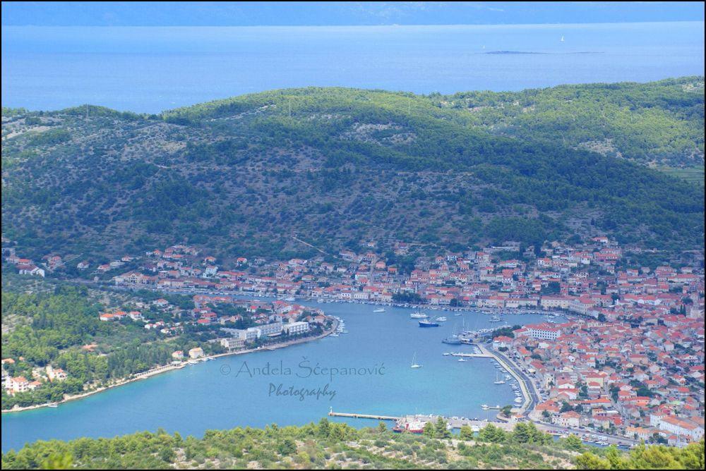 Photo in Random #view #sea #vela luka #korcula #hill hum