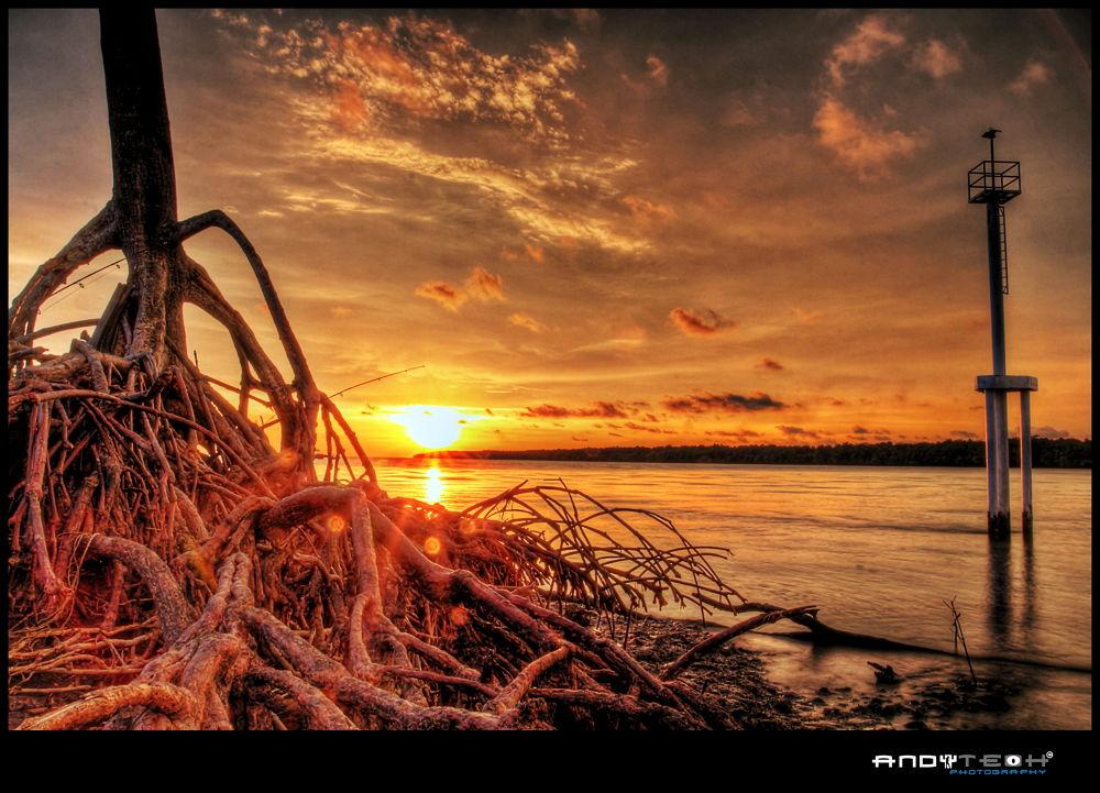 Sunset At Pantai Kelanang by andyteoh73