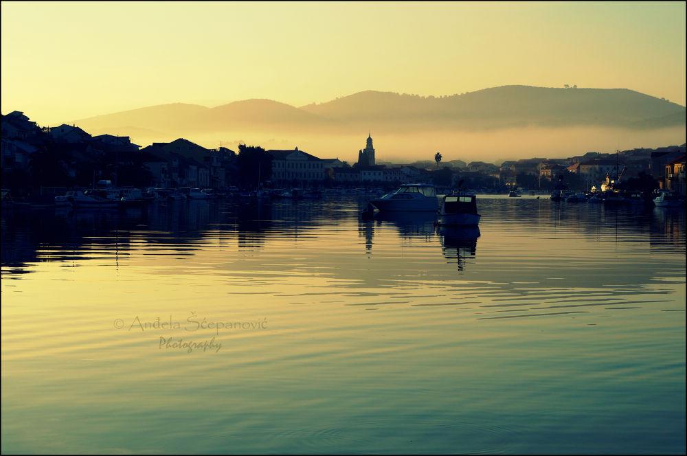 Photo in Random #early #sunrise #morning #mediterranean #fog #vela luka #korcula #adriatic sea
