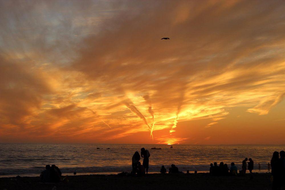 Photo in Random #ypa2013 #santa monica #sunset #couple #cloud
