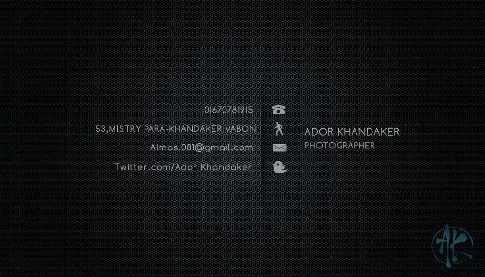 Ador's Black card back by Khandaker Almas Mahmud Ador