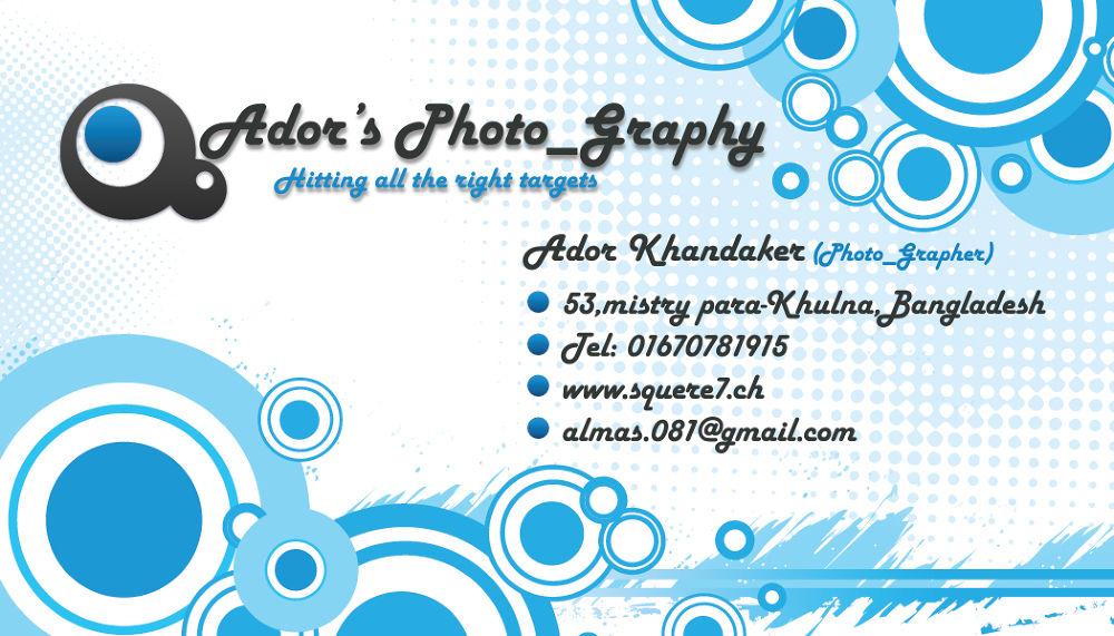 Ador's graphicriver_generic-business-card Back by Khandaker Almas Mahmud Ador