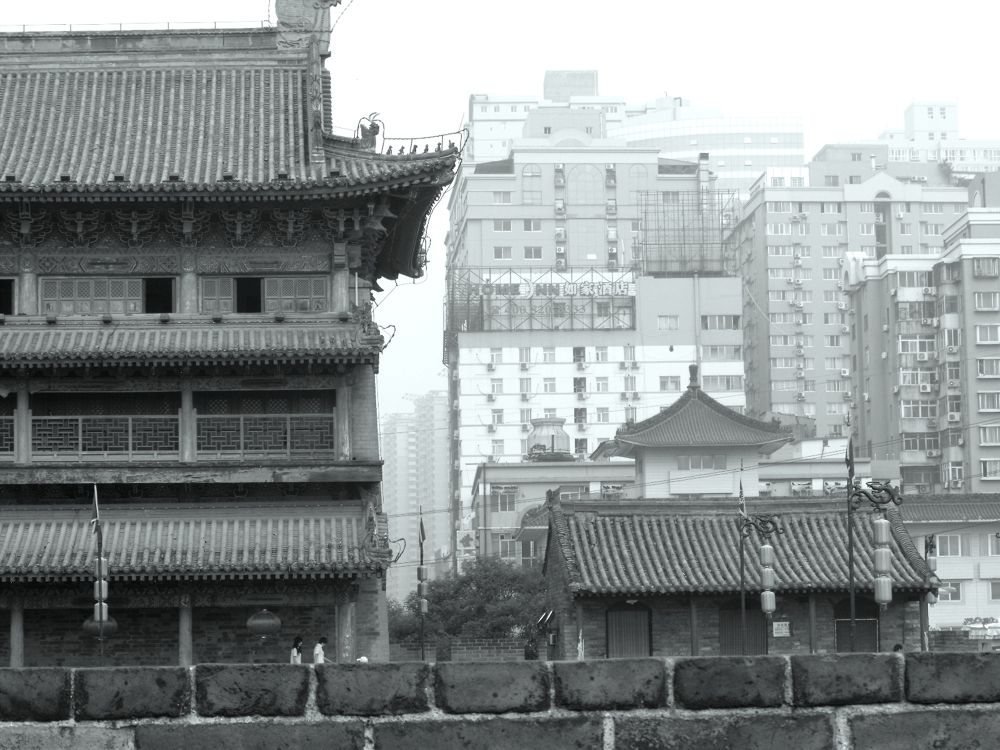 Old and new - Xian.JPG by Sandrine Vivès-Rotger Photography