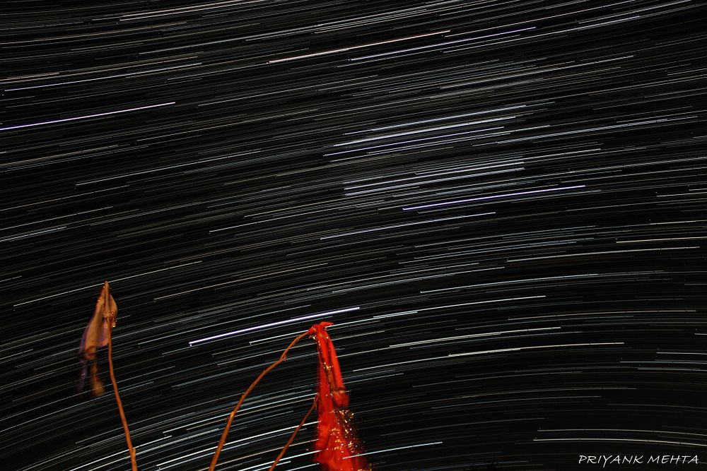 Orion Star Trails by Priyank J Mehta