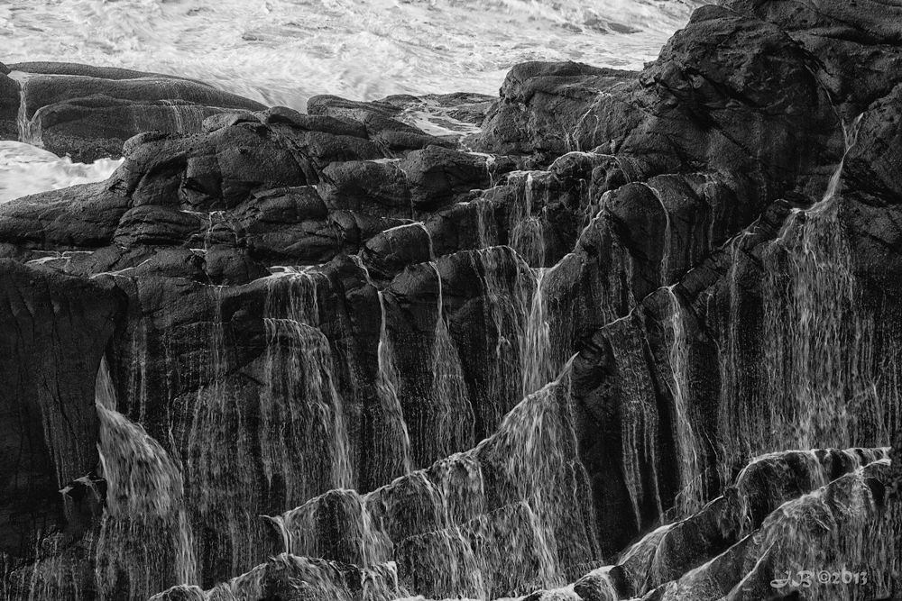 Photo in Landscape #boiler bay #pacific northwest #central oregon #oregon #oregon coast #lava #rocks #pacific ocean #ocean #black & white #ypa2013