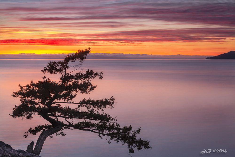 Photo in Landscape #sunset #west vancouver #british columbia #juniper point #straight of georgia #salish sea