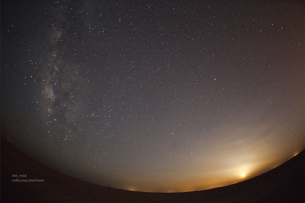 moon set end milky way rise by Kaimana