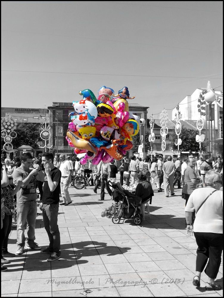 colorful balloons by miguelangelophotography