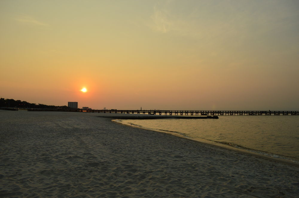 Photo in Sea and Sand #gulf of mexico #mississippi #sunrise #water #sand
