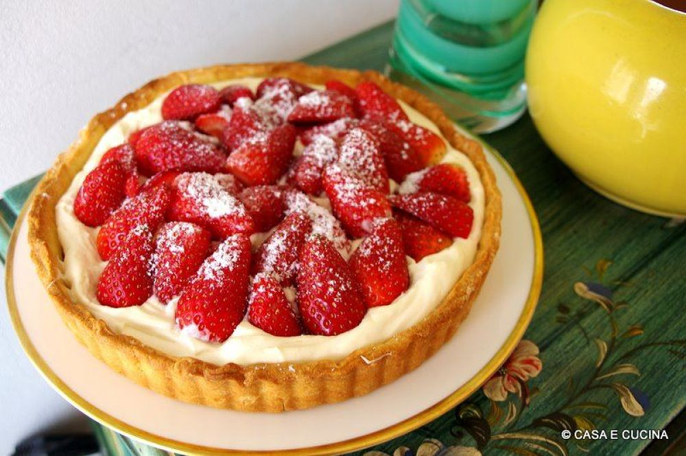my version of a delicious strawberry cheesecake.jpg by Enzo Guarino