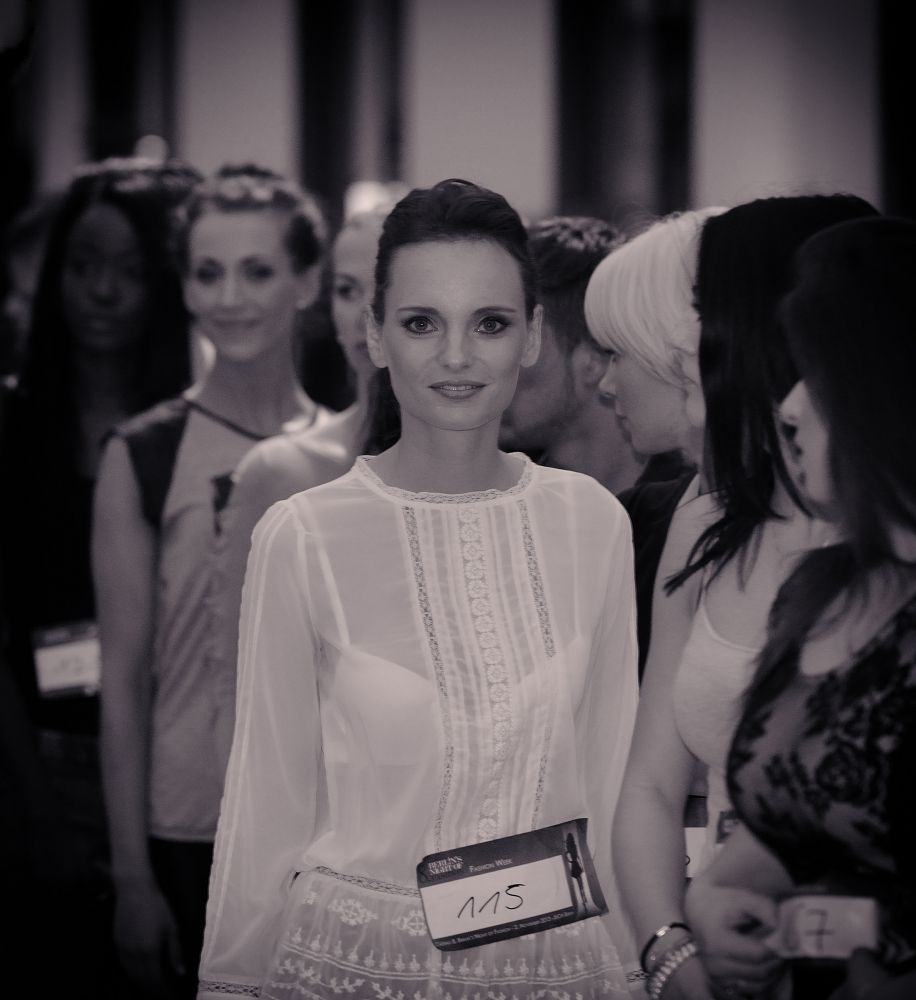 Casting zur 8.Berlin´s Night of Fashion, nur ein winziger Moment..., Berlin 2013 by Juergen Freymann