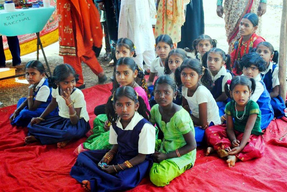 Typical School children from Rural India. by venugopalbsnl