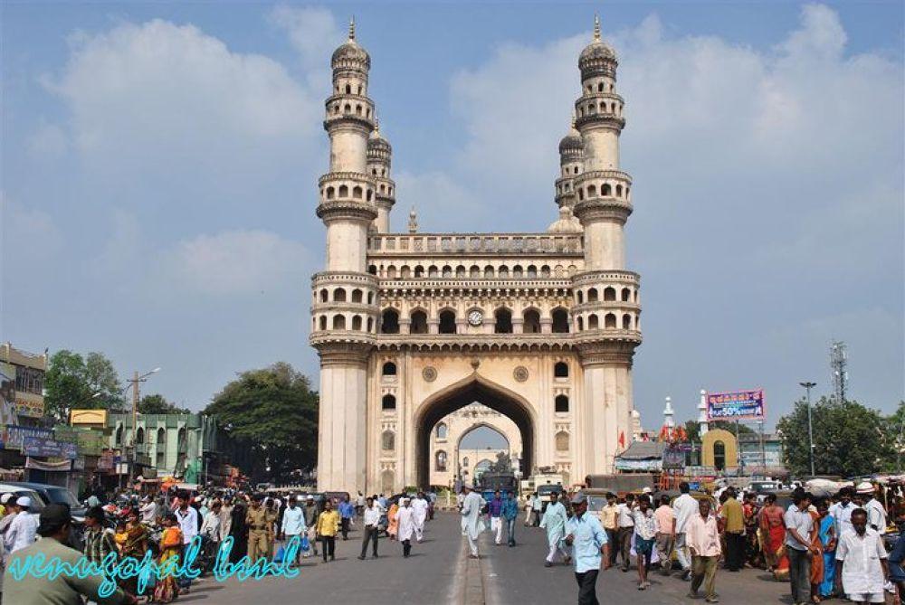 charminar Hyderabad,India. by venugopalbsnl
