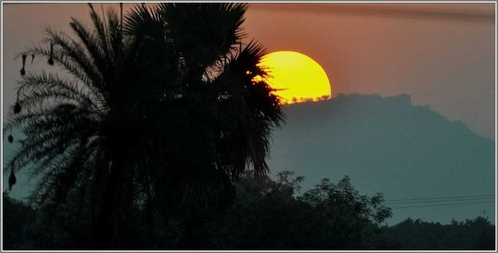 Sunset in Rural India by venugopalbsnl