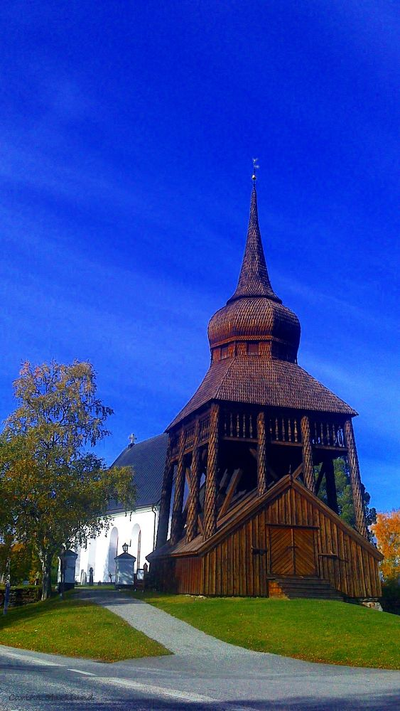 ' The church with the belfry' by carro