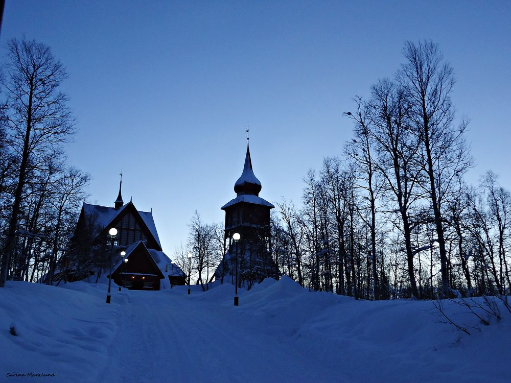 the church and the belfry Kiruna December 27 2013 by carro