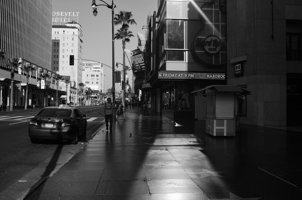 Hollywood Blvd Waking Up by michaelmarsolais5