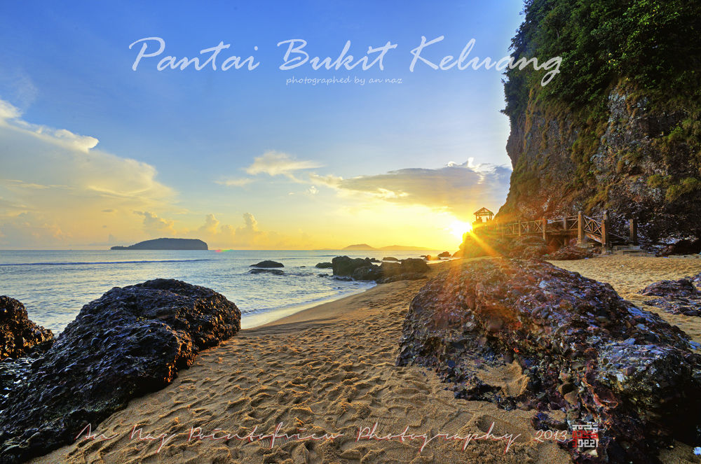 Sunrise At Bukit Keluang Beach by anfieldNaz