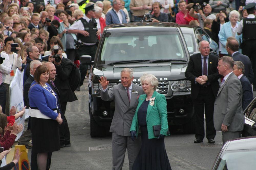 Prince Charles in Larne N.Ireland...25/6/2013 by jojo1971