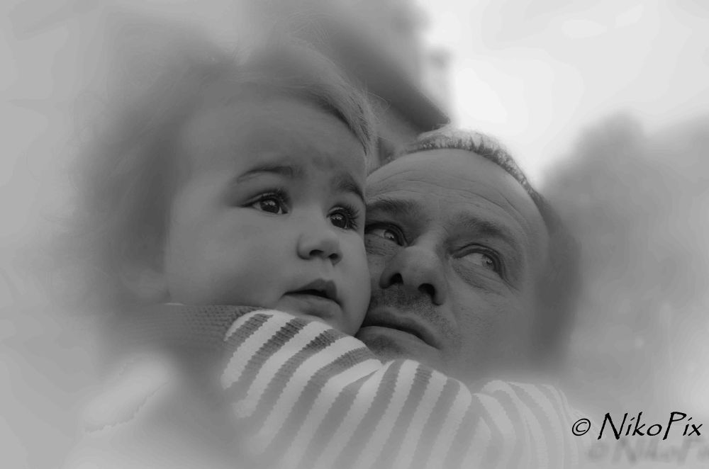Irene with Daddy by NikoPix
