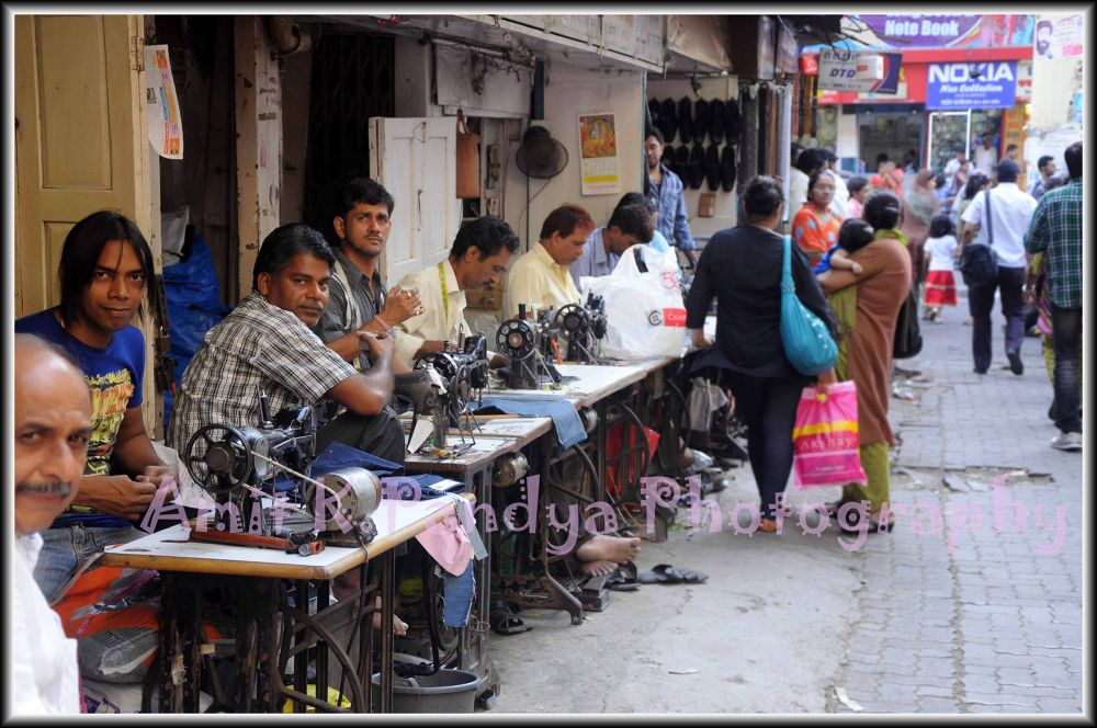 Street Tailor  by Amit K Pandya Photography