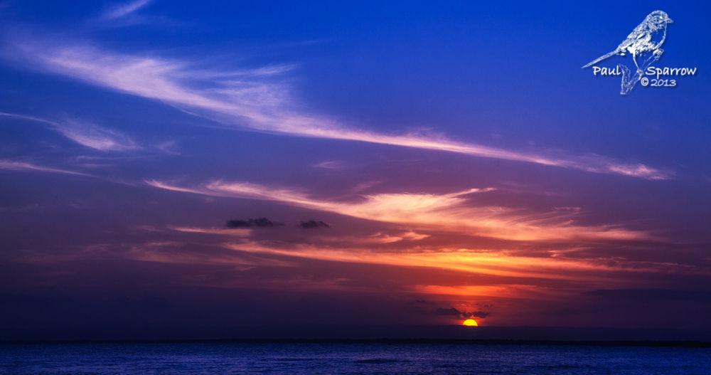 Photo in Sea and Sand #sunset #redbeach #cloud #sky #bribie #island
