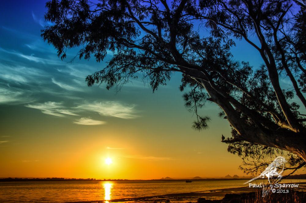 Bribie island sunset by Paul Sparrow