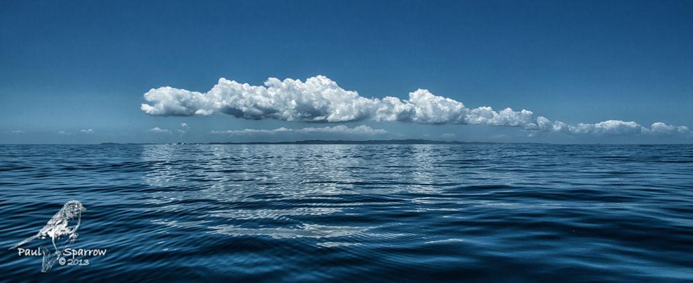 Photo in Sea and Sand #clouds #sea #water #sky #island #bribie #blue