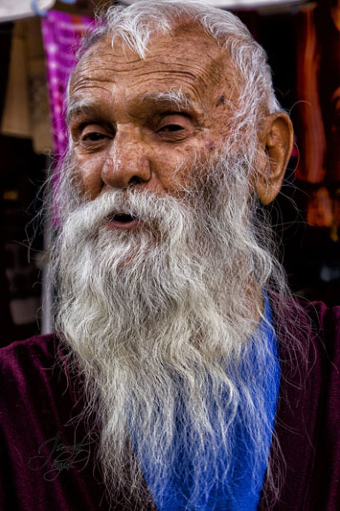 Photo in Portrait #potrait #colored #turkey #ankara #beypazarı #old man