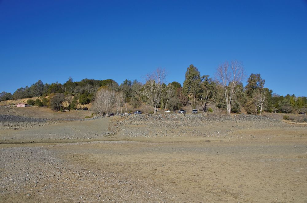 A Not So Wet Lake Mendocino (looking back at the parking lot from 100 yds.)PNTX4165 (2) by David Amaral
