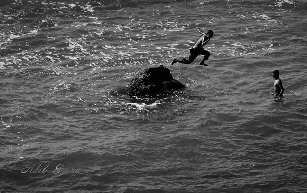 jump into the water by adel hana