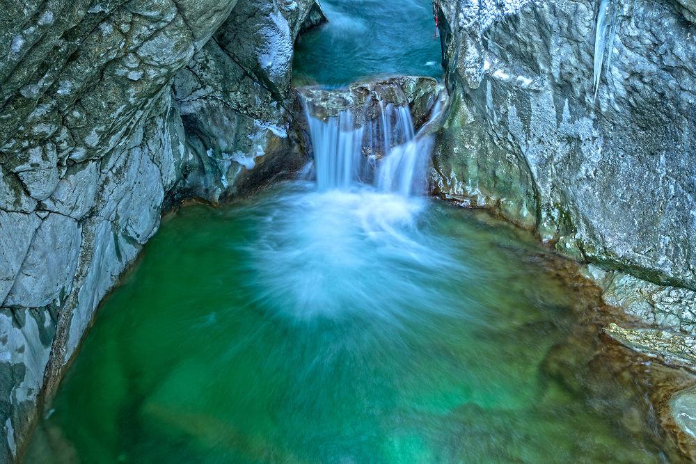 Winter Waterfall by Juergen Mayer