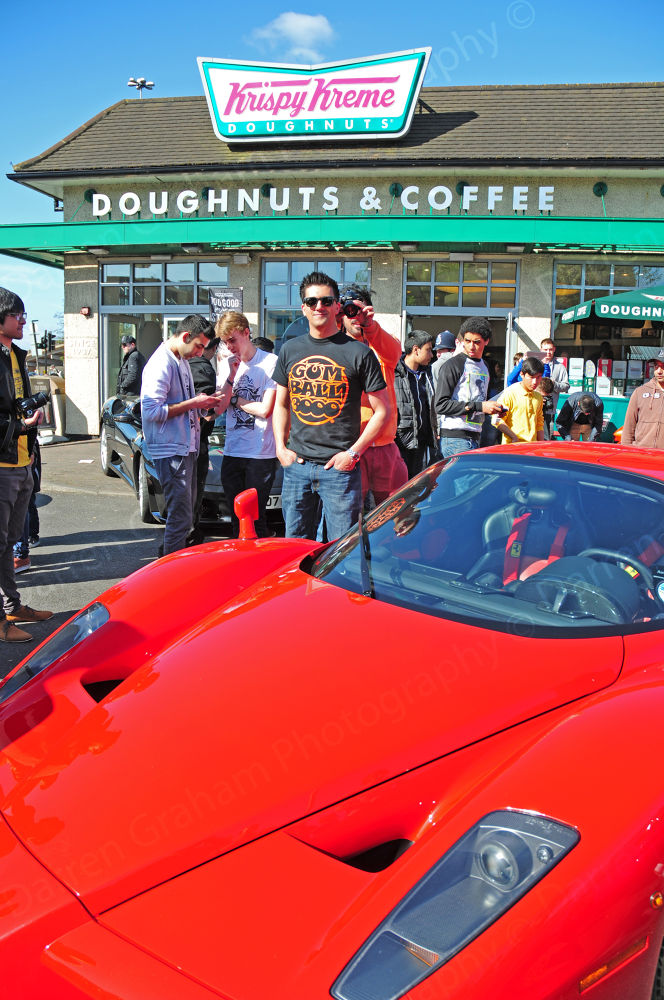 Enzo Ferrari Krispy Kreme Shannon Corner with #GumballGetTogether by DarrenGrahamPhotography