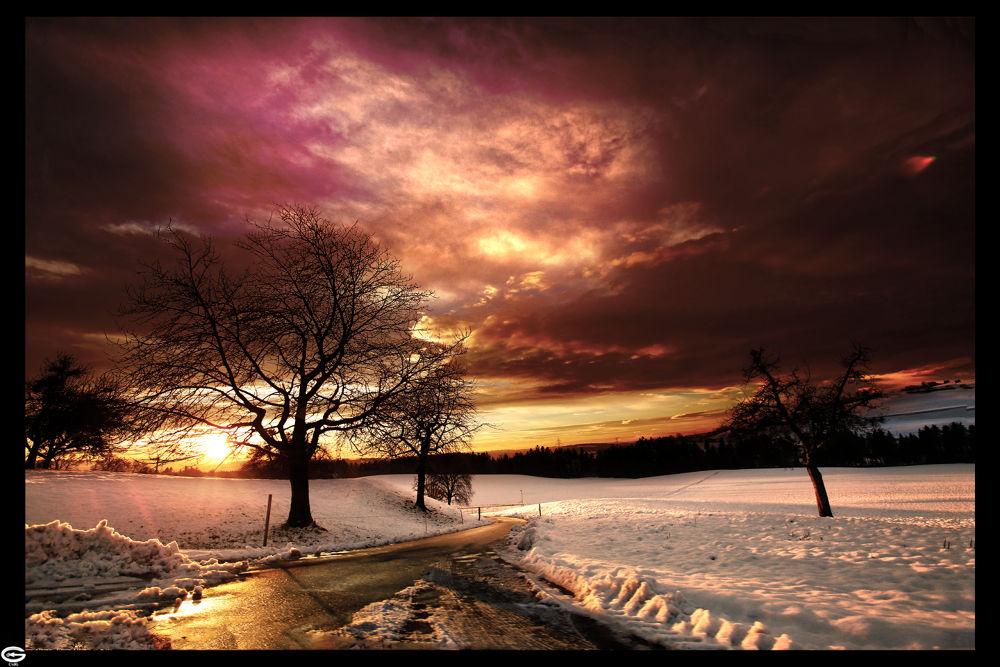 sunset by strangecave