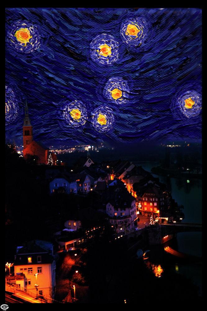 city at night by strangecave