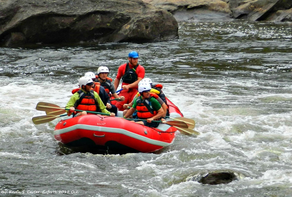 Whitewater Rafting by Karen Carter-Goforth