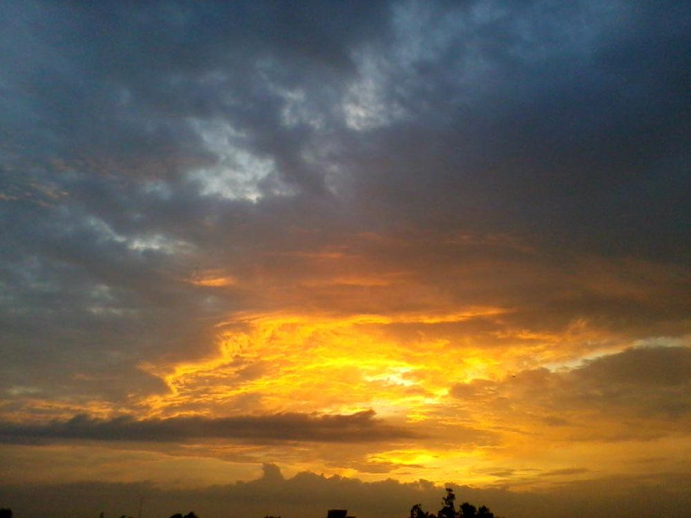 Golden Sunset  by PRasad Ahirrao