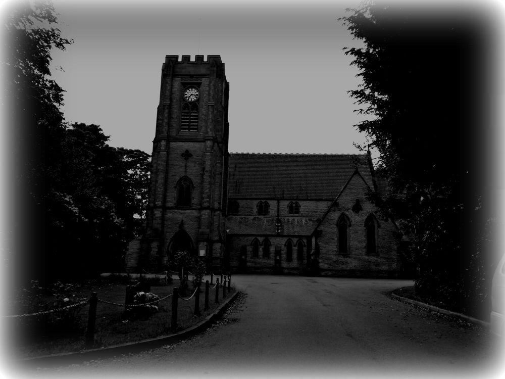 church in adlington chorley in b/w by johnderbyshire31
