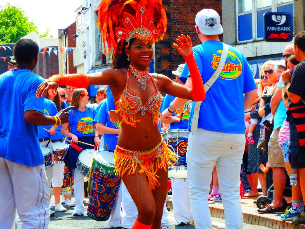 dancing girl at chorley carnival england by johnderbyshire31