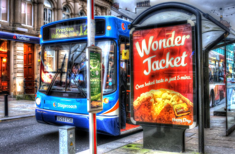 ( at a bus stop (HDR) by johnderbyshire31