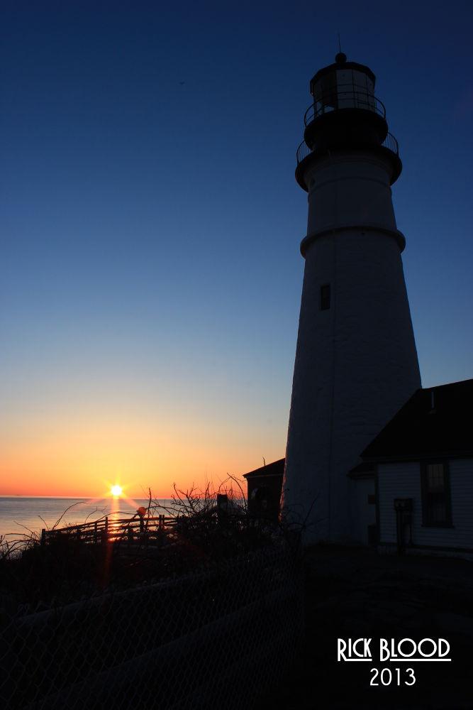 Portland Head Sunrise by rickblood792