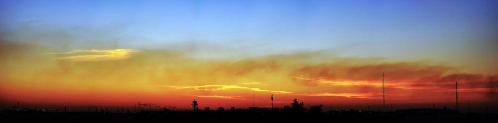 Sunset panorama.jpg by Hashimhmamphotography