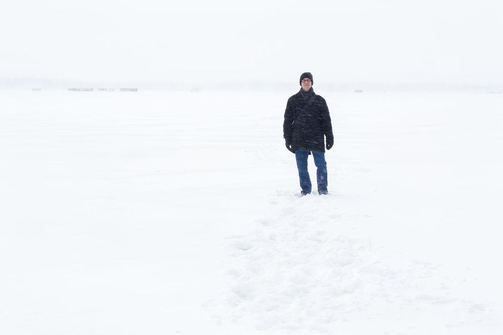 Self on lake by samueldipaola