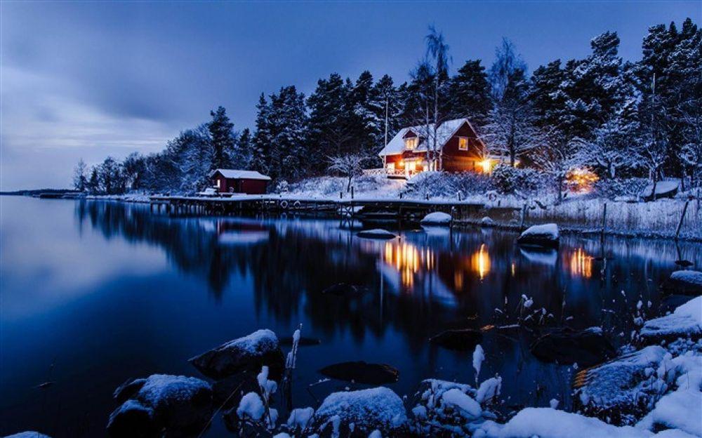 Swedish winter nights by dodo
